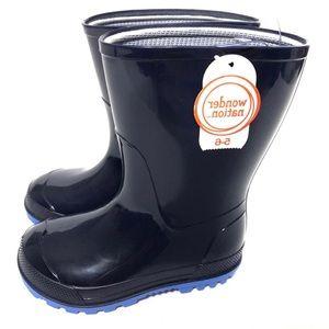 NWT Wonder Nation Toddler Boy Rain Boots Size 5-6